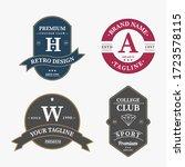 set of retro vintage badge logo ... | Shutterstock .eps vector #1723578115