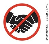 no handshake sign or no deal...   Shutterstock .eps vector #1723584748