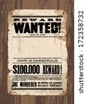 Vector Retro Wanted Poster...