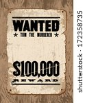 vector wanted poster template.... | Shutterstock .eps vector #172358735