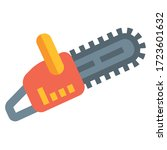 power saw black icon on white... | Shutterstock .eps vector #1723601632