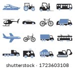 transport icons. two tone flat... | Shutterstock .eps vector #1723603108
