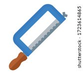 saw for metal flat icon on... | Shutterstock .eps vector #1723614865