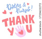 thank you  doctors and nurses.... | Shutterstock .eps vector #1723622272