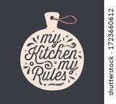 kitchen cutting board. kitchen... | Shutterstock .eps vector #1723660612