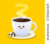 coffee cup character design.... | Shutterstock .eps vector #1723661425