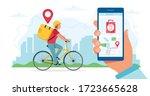bike delivery service concept ...   Shutterstock .eps vector #1723665628