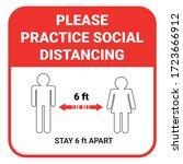 practice social distancing ... | Shutterstock .eps vector #1723666912