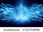 speed cyber tunnel connection...   Shutterstock .eps vector #1723703998