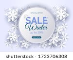 winter sale poster design... | Shutterstock .eps vector #1723706308