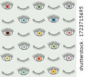 eye seamless pattern. vector... | Shutterstock .eps vector #1723715695