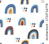 seamless vector pattern with... | Shutterstock .eps vector #1723716778