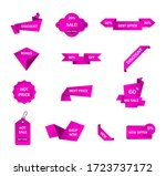 vector stickers  price tag ... | Shutterstock .eps vector #1723737172