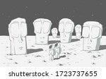 astronauts found lost another... | Shutterstock .eps vector #1723737655