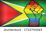 shiny lgbt protest fist on a... | Shutterstock .eps vector #1723742065