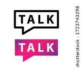 talk vector icon logotype...   Shutterstock .eps vector #1723743298