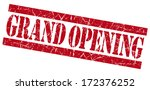 grand opening red grunge stamp | Shutterstock . vector #172376252
