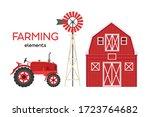 Farming Elements. Red Barn ...