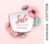 spring sale background with... | Shutterstock .eps vector #1723779238