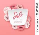 spring sale background with... | Shutterstock .eps vector #1723779262