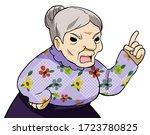 An Elder Woman Scolding Someone.