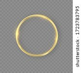 gold wedding rings with glowing ... | Shutterstock .eps vector #1723783795