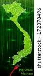 map of vietnam with borders in... | Shutterstock . vector #172378496