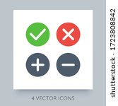 flat icons simple collection...