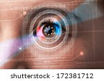 modern cyber woman with... | Shutterstock . vector #172381712