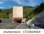 Small photo of Rionegro, Antioquia, Colombia. May 1, 2020: East vehicular tunnel.