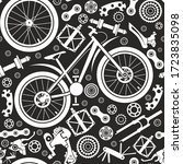 bicycles. seamless pattern of... | Shutterstock .eps vector #1723835098
