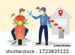 checking body temperature...   Shutterstock .eps vector #1723835122