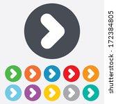 arrow sign icon. next button.... | Shutterstock .eps vector #172384805