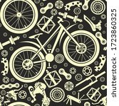 bicycles. seamless pattern of... | Shutterstock .eps vector #1723860325