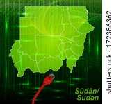 map of sudan with borders in... | Shutterstock . vector #172386362