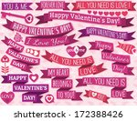 set of many ribbon valentine's... | Shutterstock .eps vector #172388426