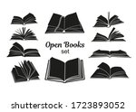open book black silhouettes.... | Shutterstock .eps vector #1723893052