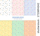 set of dotted patterns with... | Shutterstock .eps vector #1723894342
