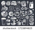 breakfast dishes vector... | Shutterstock .eps vector #1723894825