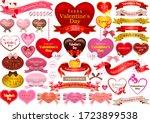 valentines day logo design...   Shutterstock .eps vector #1723899538