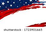 usa flag paintbrush banner on...   Shutterstock .eps vector #1723901665