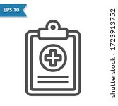 medical chart icon.... | Shutterstock .eps vector #1723913752