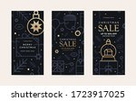 set of sale cards holiday... | Shutterstock .eps vector #1723917025