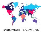 world map info graphic ... | Shutterstock .eps vector #1723918732