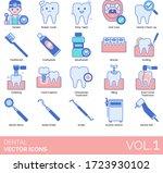 dental icons including dentist  ...   Shutterstock .eps vector #1723930102