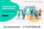 senior professor lecturing...   Shutterstock .eps vector #1723930618