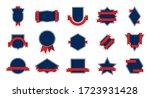 blue award badge set. red... | Shutterstock .eps vector #1723931428