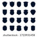 police badges set. military... | Shutterstock .eps vector #1723931458
