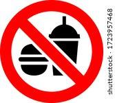 no food and drink forbidden...   Shutterstock .eps vector #1723957468