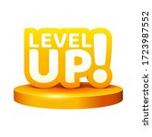 level up icon on pedestal. game ...